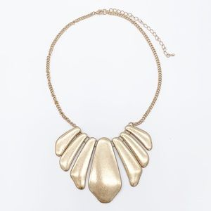 5/$20 brushed gold statement necklace